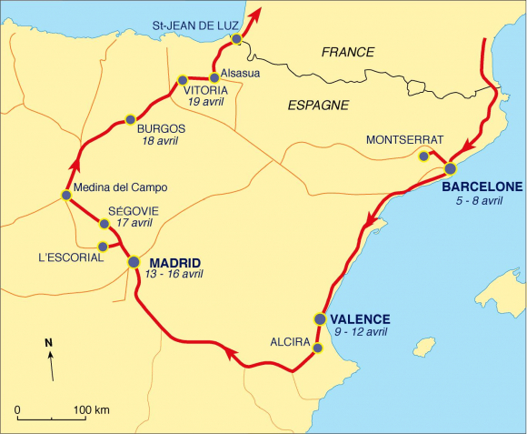 Un voyage de Paul Vidal de la Blache en Espagne dans la huerta de