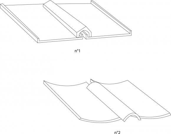Eléments de couverture en tuiles sciées de type corinthien à Olbia ...