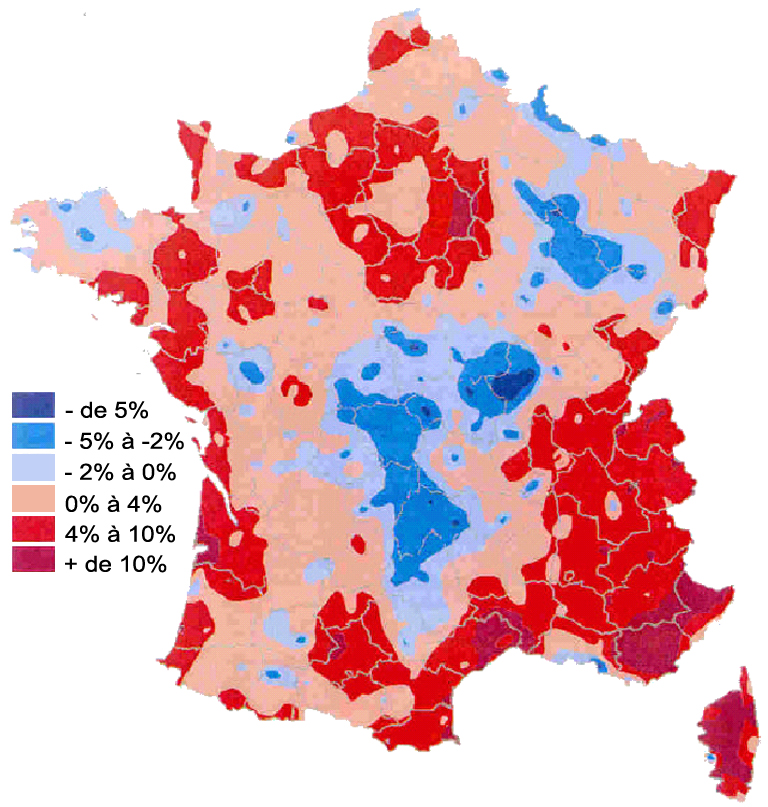 carte de france zone inondable