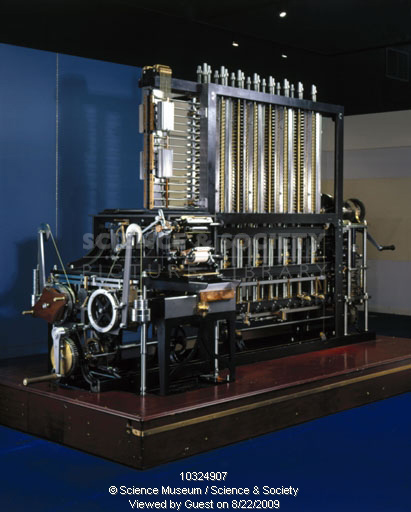 fig. 2 - Charles Babbage : Difference Engine n° 2. Construit au Science Museum de South Kensington, Londres, 2001.