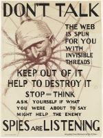 Don't talk. The web is spun for you with invisible threads, keep out of it, help to destroy it – spies are listening