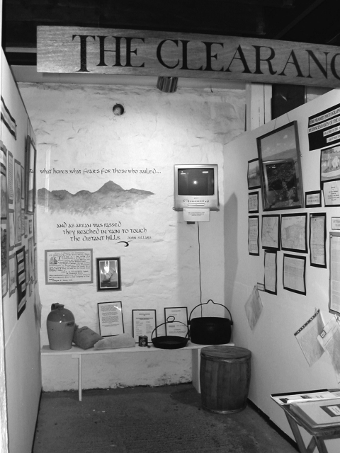 Fig. 5 : Isle of Arran Heritage Museum, exposition sur les Clearances.