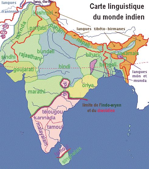 Carte De Linde Avec Le Gange.Federalisme Identites Et Langues Officielles En Inde