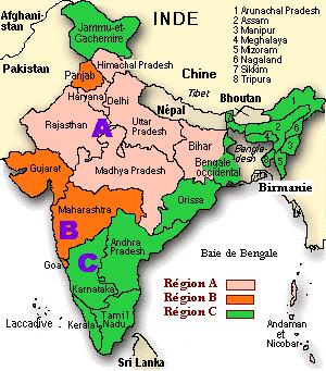 Carte Inde Langues.Federalisme Identites Et Langues Officielles En Inde