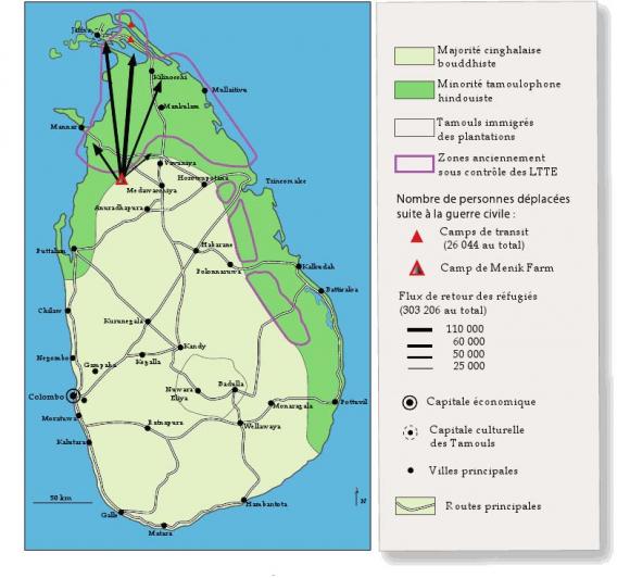 Sri Lanka Carte Ancien Nom.Routes Et Antiroutes De L Immigration Tamoule Sri Lankaise