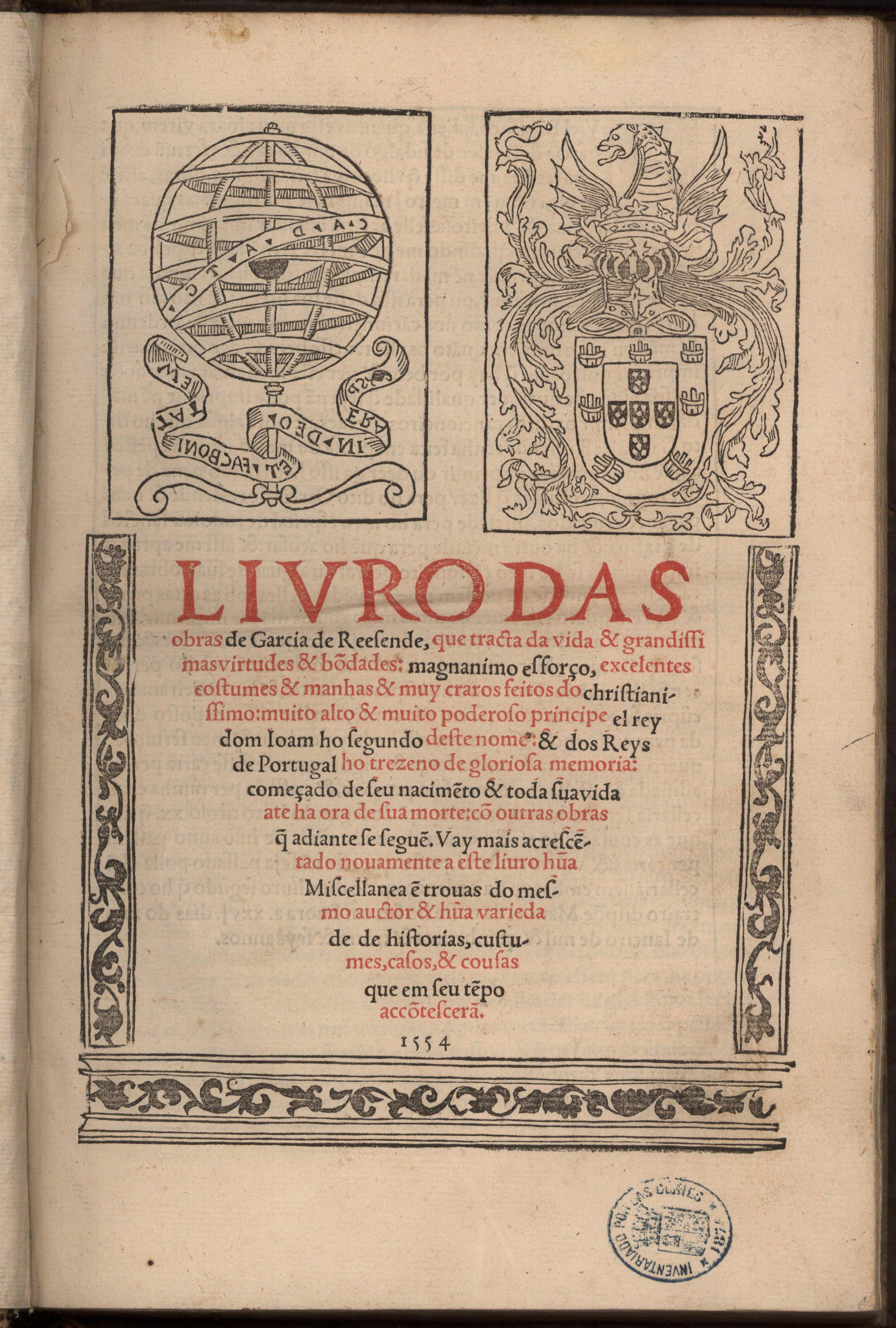 Letras portuguesas en la biblioteca del conde de Gondomar