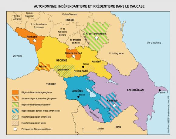 Géorgie Ossétie Russie. Une guerre à toutes les échelles