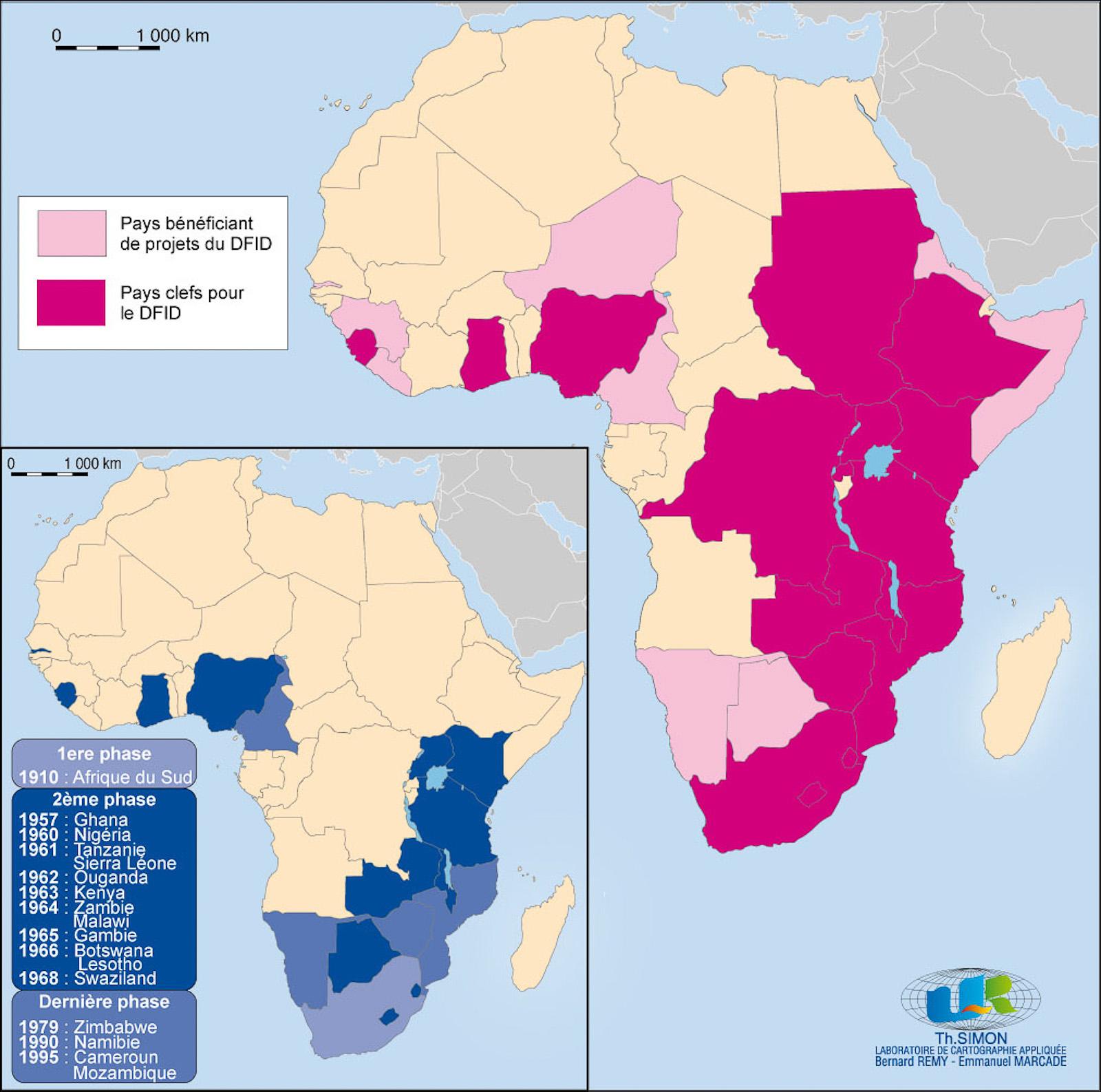 Carte Afrique Pma.Permanences Bilaterales Dans L Aide Au Developpement En