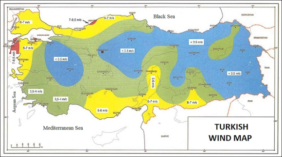 Development potential of wind energy in turkey map 2 turkish wind map publicscrutiny Choice Image