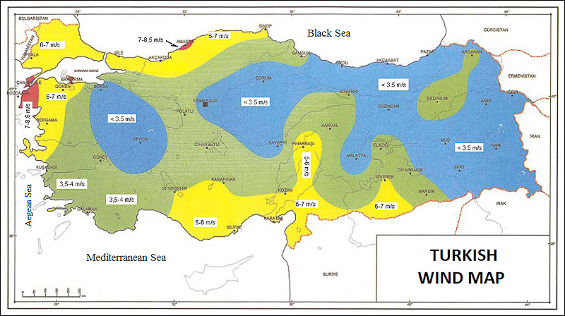Development Potential Of Wind Energy In Turkey