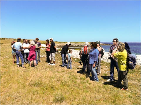 Figure 2 – A multi-generational group of geographers on a field trip