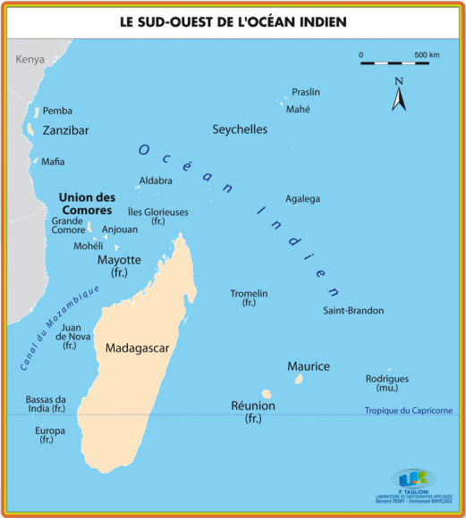 Carte De Locean Indien Occidental.L Ile D Anjouan Figure De La Balkanisation De L Archipel Des
