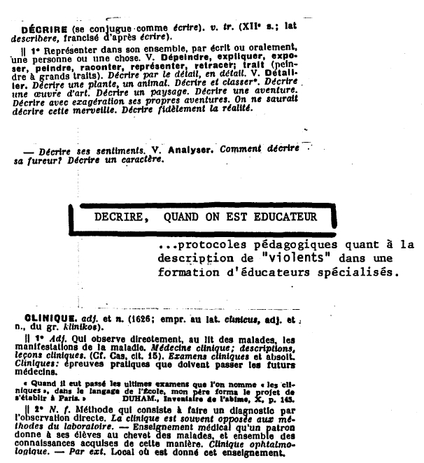 exemple de journal d etude clinique educateur specialise