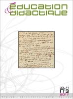 Couverture Éducation et didactique 11-3