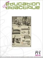 couverture Éducation & didactique 12-1