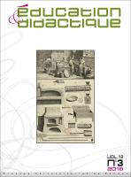 couverture Éducation & didactique 12-3
