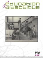 Couverture Education & Didactique n° 15-2