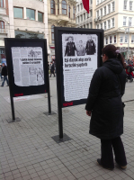 Open-air exhibit of Beyoğlu Municipality for 2013 Women's Day, Istiklal Street-Istanbul