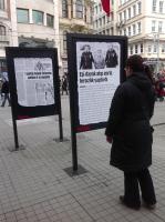 Open-air exhibit of Beyoğlu Municipality for 2013 Women's Day, Istiklal Street-Istanbul