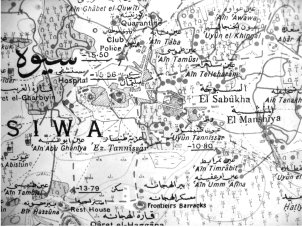 Figure 6 : Sheet 2. Egypt – scale 1:25 000. Siwa Oasis (Western Desert Province). Published by the Survey of Egypt 1941 (41/183). Survey in 1929. First edition on 31º Grid 1930, Second edition on 27º Grid 1941.