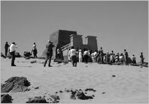 7. Considering future tourism at the pyramids of Meroe.
