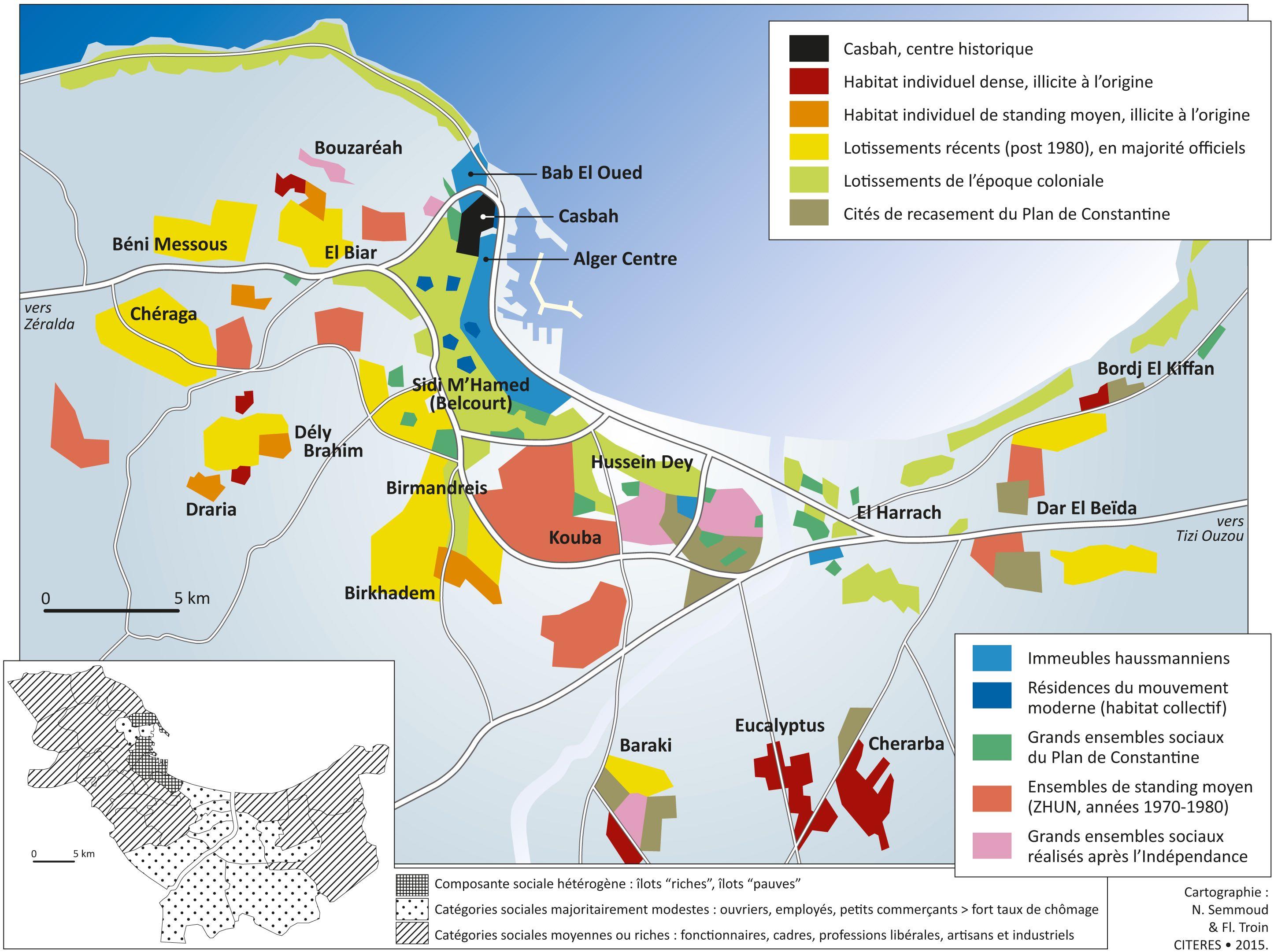Carte Ville Algerie