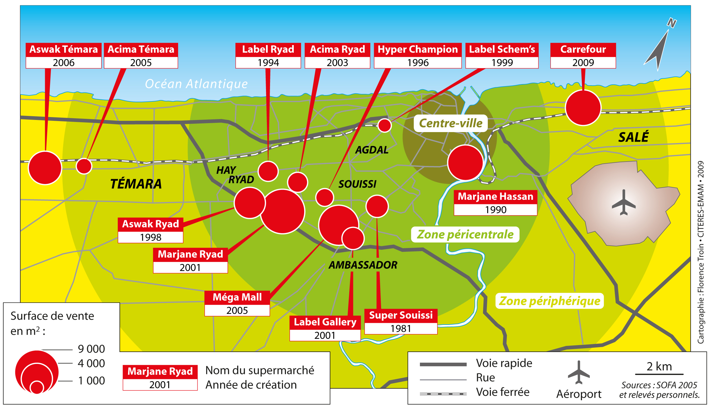 Les Nouveaux Espaces Marchands Dans La Peripherie De Rabat