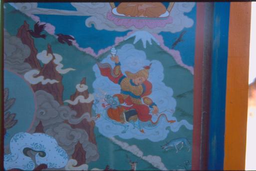 The representation of the Mongolian shaman deity Dayan Deerh in