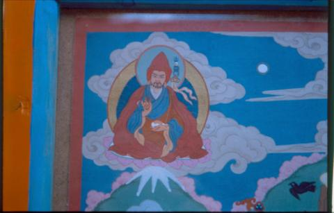 Fig. 8. Padmasambhava's image in the top right corner of the scroll