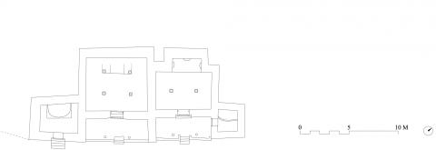 Fig. 2. Plan of the main Mangyu complex; eastern tower on the right