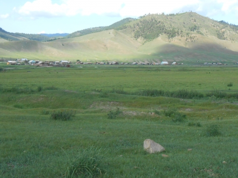 Picture 3. A village below the hills (Southern Buryatia, July 2013)