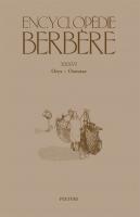 Encyclopédie berbère XXXVI