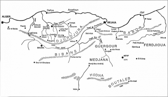 Kabylie Carte Geographique.26 Judaisme Kabylie Kabylie Geographie E B Et M