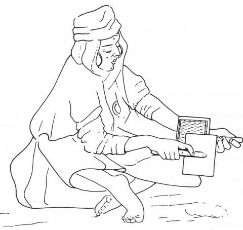 Dona amb tren des del carder (després, per exemple, Gobert).
