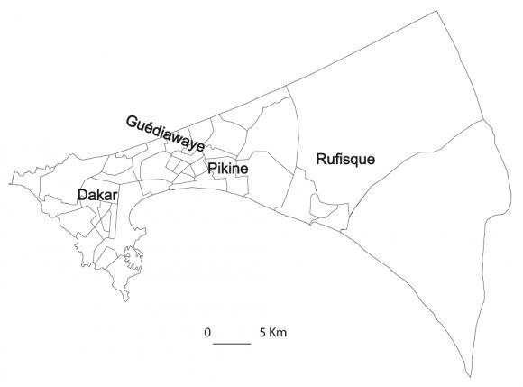 Attraction Des Services De Soins De Santé Primaires Et Des Centres - Pikine map
