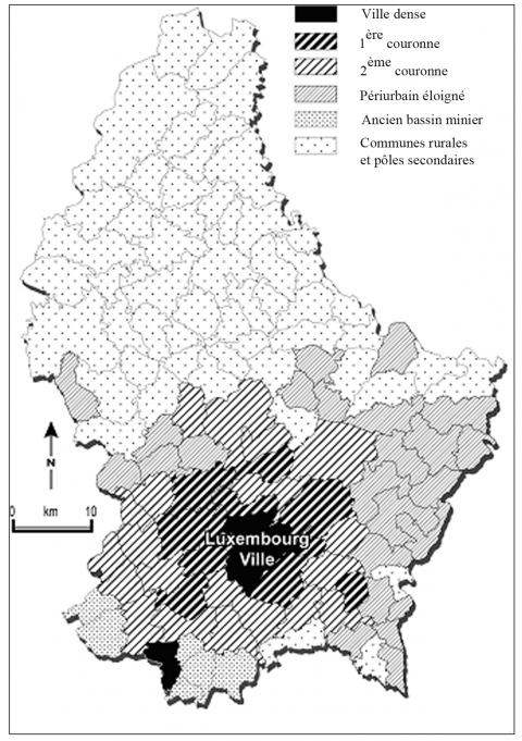 Carte 1. Typologie des communes luxembourgeoises