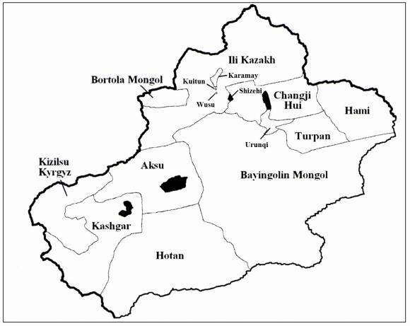 Map Xinjiang.Private Sector Development In Xinjiang China