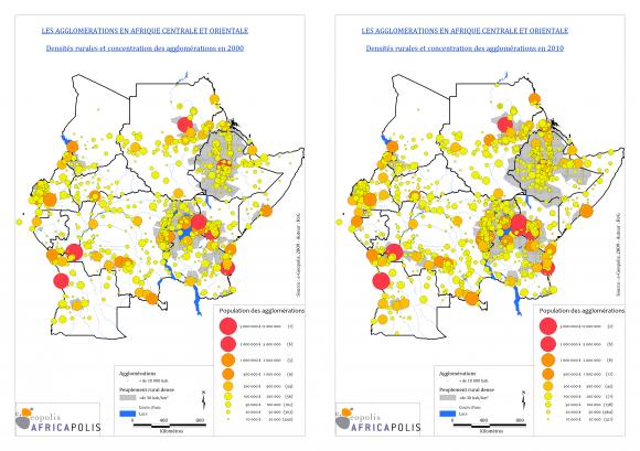 Carte Urbanisation Afrique.Le Peuplement De L Afrique Centrale Et Orientale Logiques