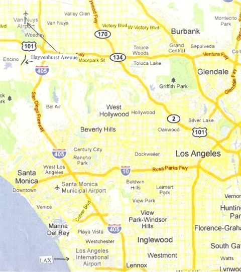 Mulholland Drive Map