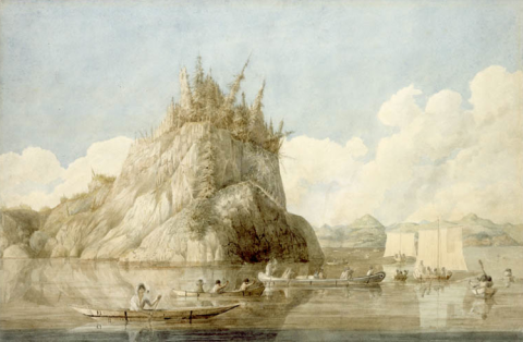 The Franklin Expedition Crossing Lake Prosperous, Northwest Territories, Attended by a Tribe of Copper-mine7