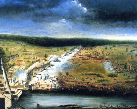 The Battle of New Orleans at Chalmette, 1815