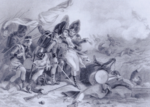 Death of Edward Pakenham at the Battle of New Orleans (1860)