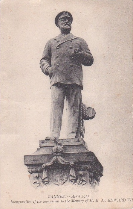 8. The now destroyed statue of Edward VII dressed as a yachtsman