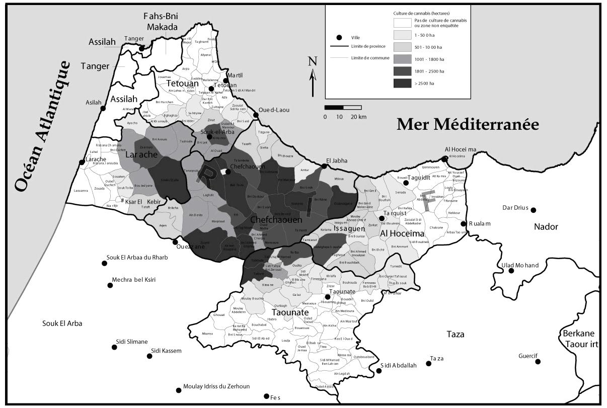 Production de cannabis et de haschich au maroc contexte for Region du 59