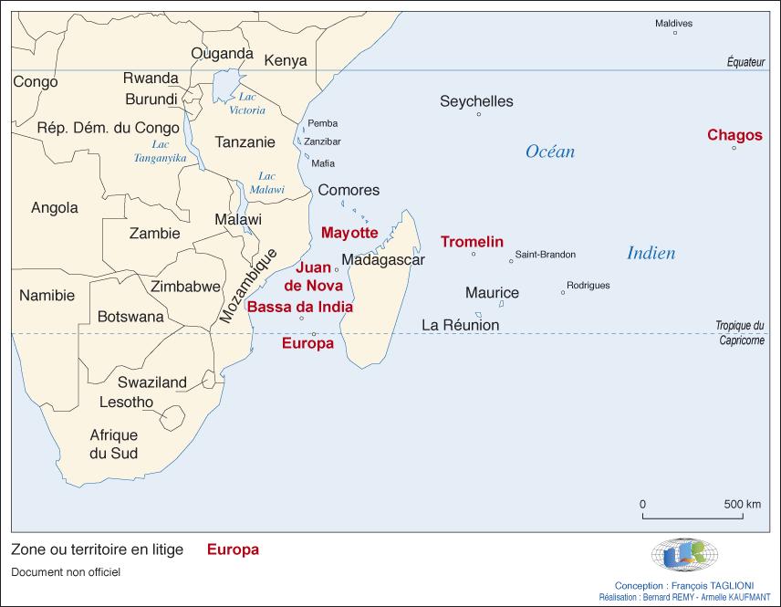 Carte De Locean Indien Occidental.Les Petits Espaces Insulaires Au Cœur Des Revendications