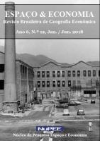 Capa - Espaço e Economia - Número 12