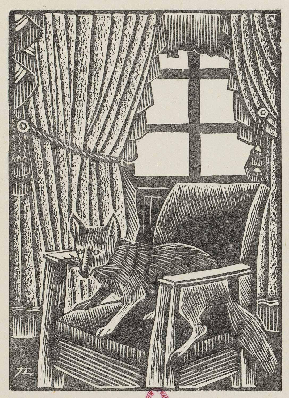 gravure sur bois Roger Grillon Les Capucins Holzschnitt