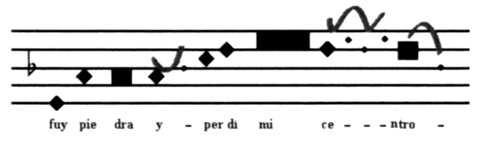 Fig. 21 : Transcription neumatique d'une phrase por Soleá du type de La Serneta.