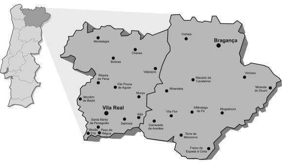 mapa de portugal tras os montes Da antropologia à antropologia aplicada ou a afirmação da  mapa de portugal tras os montes