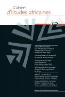Couverture Cahiers d'Études africaines, 2017, numéro 225